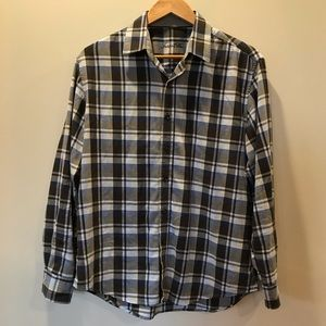 Tasso Elba Plaid Dress Shirt